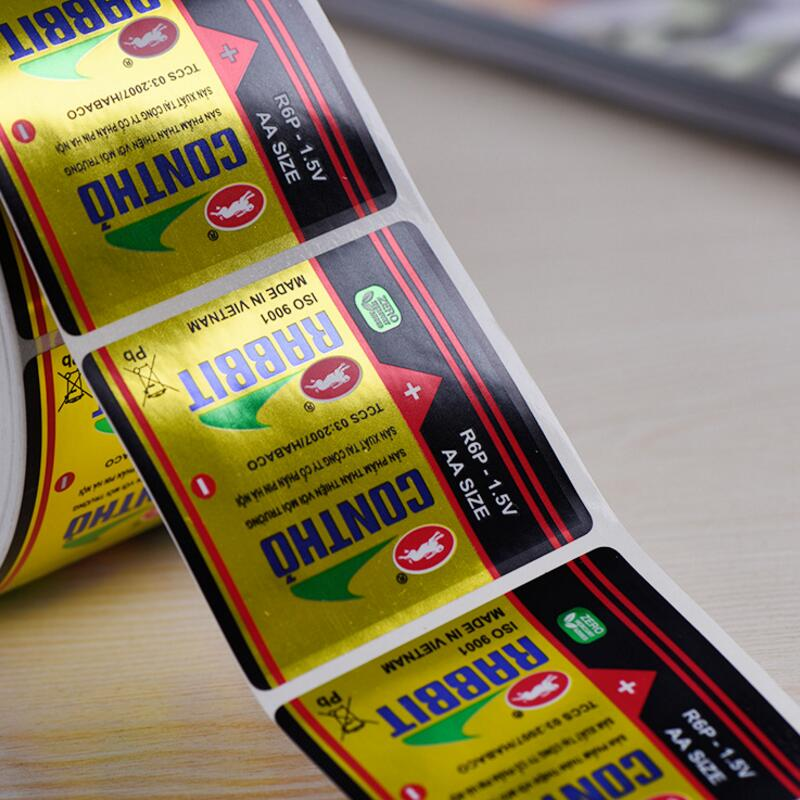 image about Printable Vinyl Labels named Water-resistant Stickers And Labels Printing upon Roll