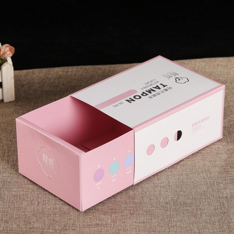 Custom Print Cosmetic Packaging Cardboard Gift Paper Drawer Box